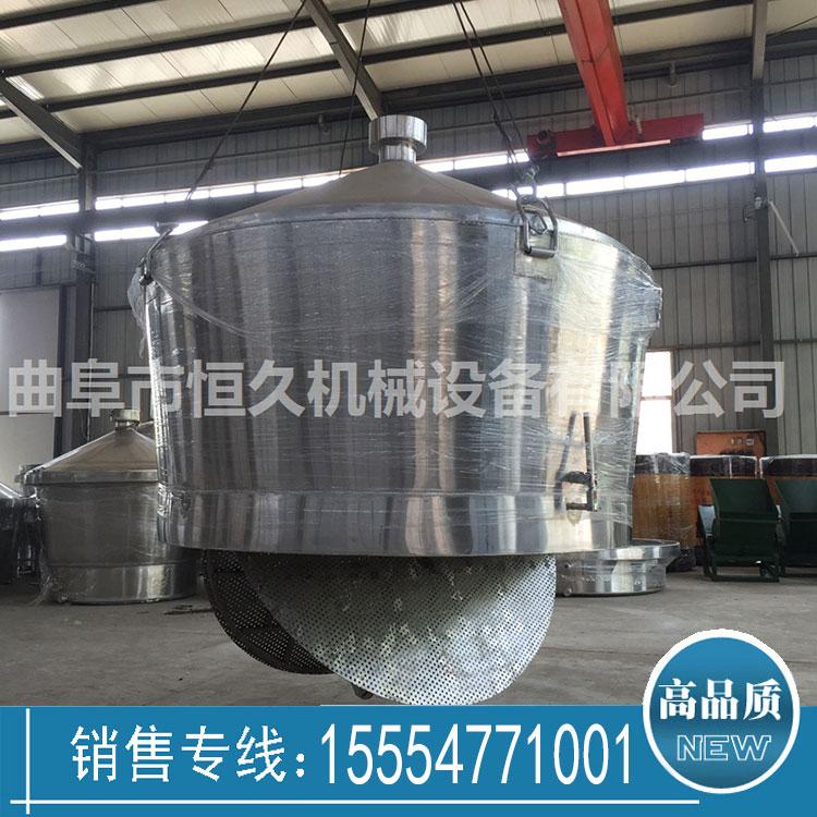 大型酒厂专用自动下粮不锈钢吊甑2000斤粮食分体式煮酒锅价格