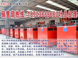 衢州世邦公司发泡混凝土砌块设备提供最新配方技术专业生产销售L