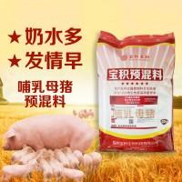 宝积5%哺乳母猪中草药抗瘟饲料预饲料添加剂