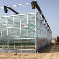 【豫拓温室】新式连栋玻璃阳光板温室大棚设计